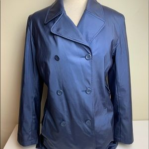 Women's Giacca Blue Trench Coat Small